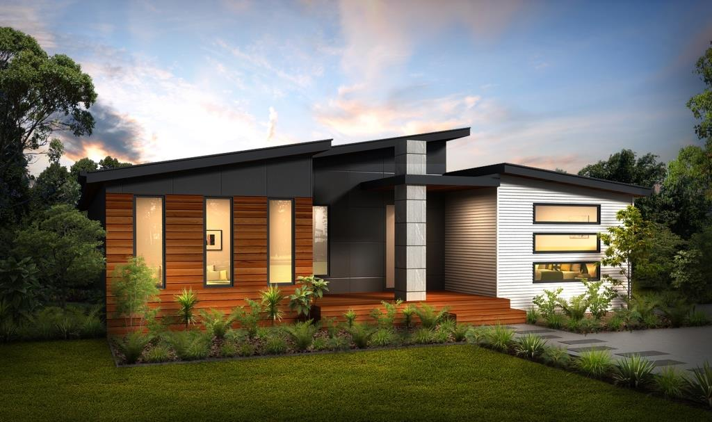 Contempo 1 Split Skillion Roof Modern Contemporary Home   Plans   Swanbuild  Manufactured Homes | Swanbuild Images