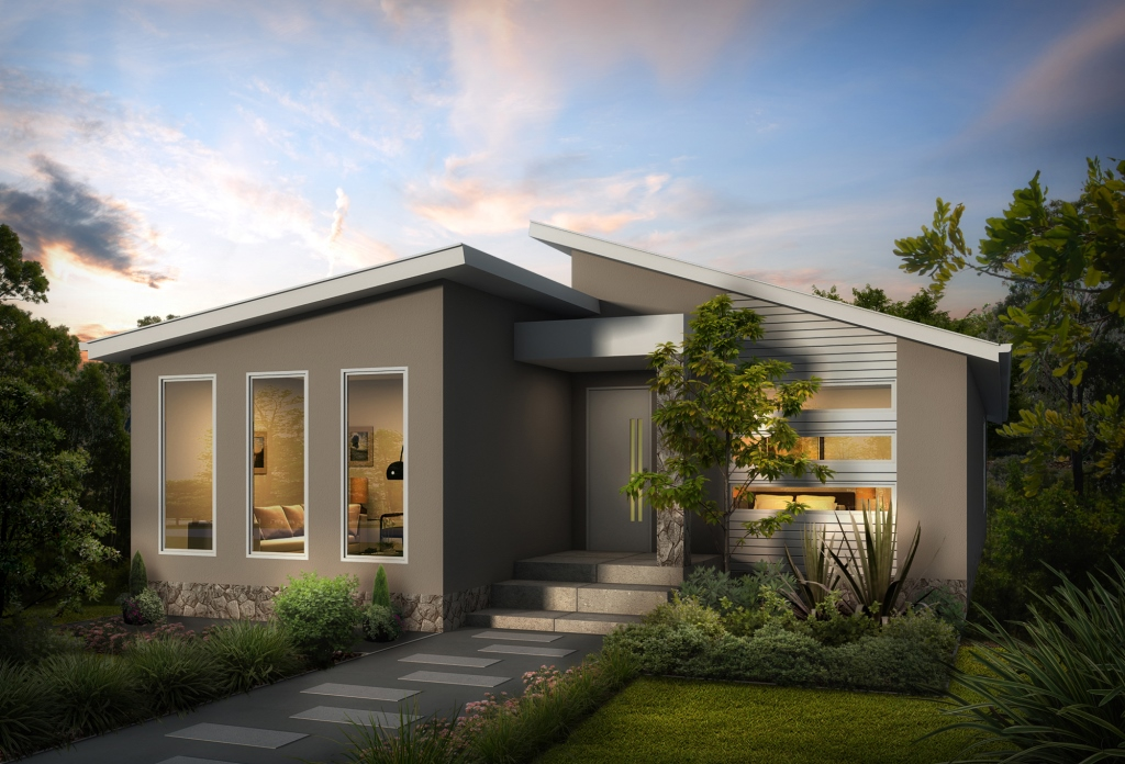 Prevalent 2 split skillion modern contemporary home swanbuild - Contemporary home ...