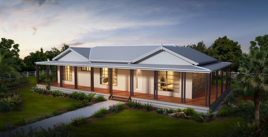 Image gallery modern country house style for Country cottage homes designs australia