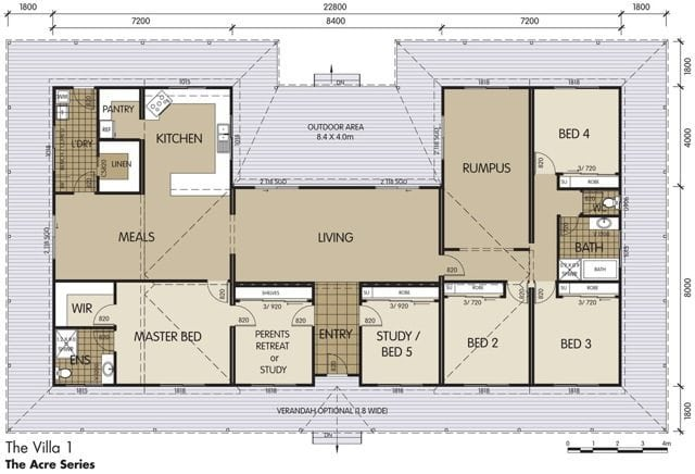 Villa 1 swanbuild Country plans owner builder
