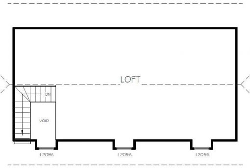 upper level 6 floor plan loft77